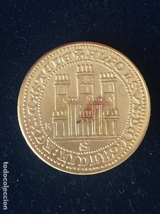 Monedas FNMT: REPRODUCCION FNMT DOBLA ALFONSO. - Foto 2 - 147698254