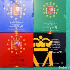 Monedas FNMT: MONEDAS JUAN CARLOS L- FNMT 13 ESTUCHES OFICIALES DESDE 1992 A 2001 . Lote 150177782