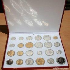 Monedas FNMT: HISTORIA DE LA PESETA 24 MONEDAS PROOF. Lote 154313778