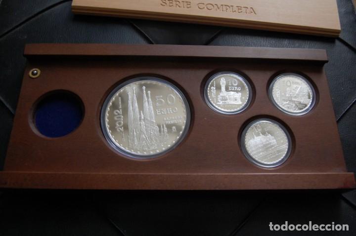 GAUDÍ 2002. COLECCIÓN COMPLETA EN PLATA, 4 MONEDAS (Numismática - España Modernas y Contemporáneas - FNMT)