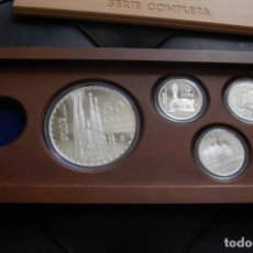 Monedas FNMT: GAUDÍ 2002. COLECCIÓN COMPLETA EN PLATA, 4 MONEDAS. Lote 155655102