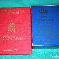Monedas FNMT: ESPAÑA-EXPOSICIÓN DE 1987 CARTERA E-87 Y ASI NACE UNA MONEDA 500 PESETA JUAN CARLOS I PROOF-PLATA. Lote 155694582