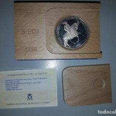 Monedas FNMT: AÑO 1989.- 5 ECUS PLATA. CARLOS V.. Lote 156828734