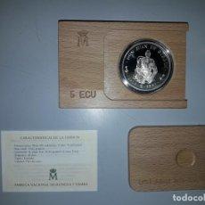 Monedas FNMT: AÑO 1993.- 5 ECU PLATA. HOMENAJE A DON JUAN.. Lote 156874730