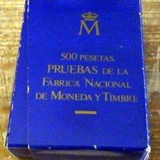 Monedas FNMT: ESTUCHE COMPLETO 6 MONEDAS DE 500 PESETAS, PRUEBA 1987 F.N.M.T. XXV ANIVERSARIO BODA REYES. Lote 158148986