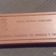 Monedas FNMT: CAJA 10 MONEDAS NUEVO SISTEMA MONETARIO. FABRICA NACIONAL DE MONEDA Y TIMBRE.. Lote 161726722