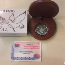 Monedas FNMT: 1999 ESPAÑA MILENIO PAZ PALOMA AÑO 2.000 VALOR 1.500 PESETAS PLATA F.N.M.T PROFF. Lote 163033344