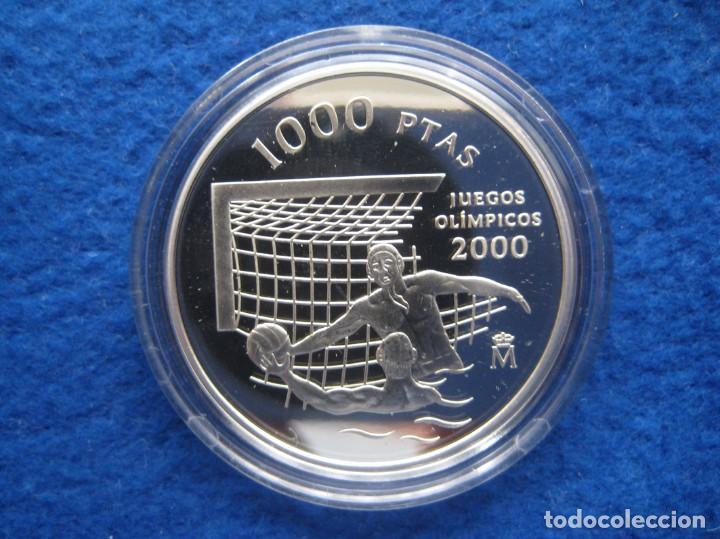 Monedas FNMT: Moneda conmemorativa de Plata. 2000 pesetas. Año 1999. Juegos de Sidney 2000 - Foto 2 - 164882826