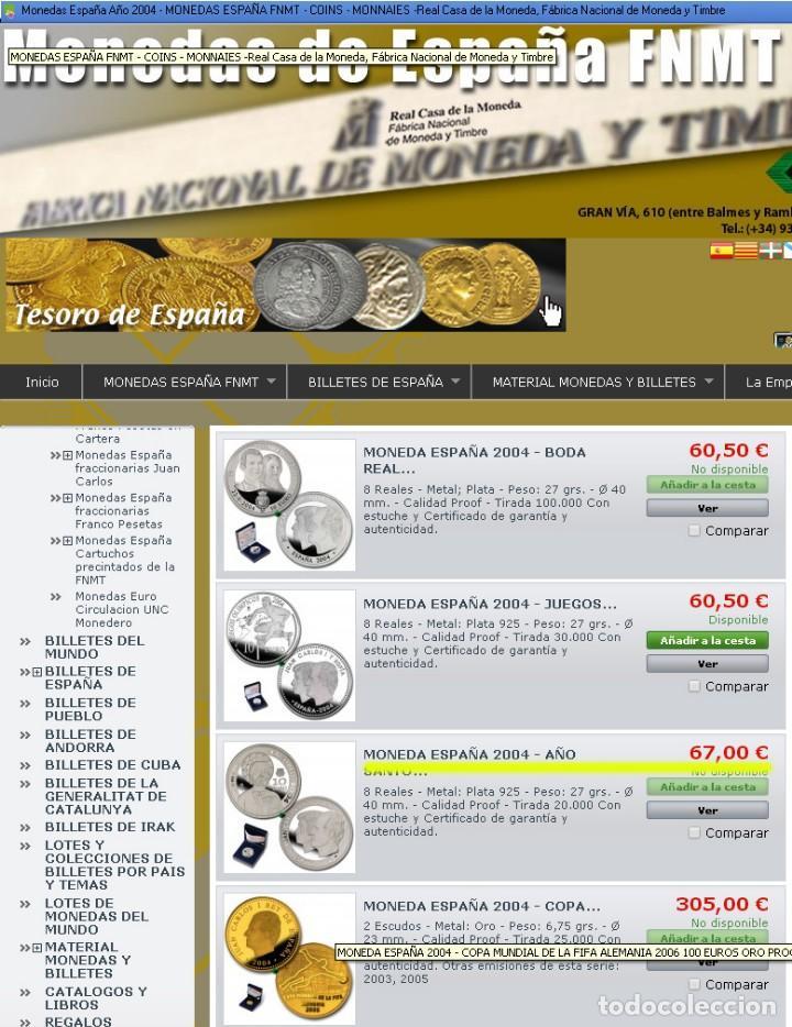 Monedas FNMT: Moneda conmemorativa de Plata. 12 euros. Año 2004. Enlace real Felipe y Letizia - Foto 4 - 164883050
