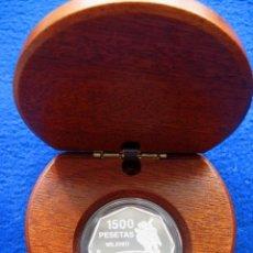 Monedas FNMT: MONEDA CONMEMORATIVA DE PLATA. DISEÑO OCTOGONAL. 1.500 PESETAS. AÑO 1999. MILENIO. COSMONAUTA. Lote 164885142