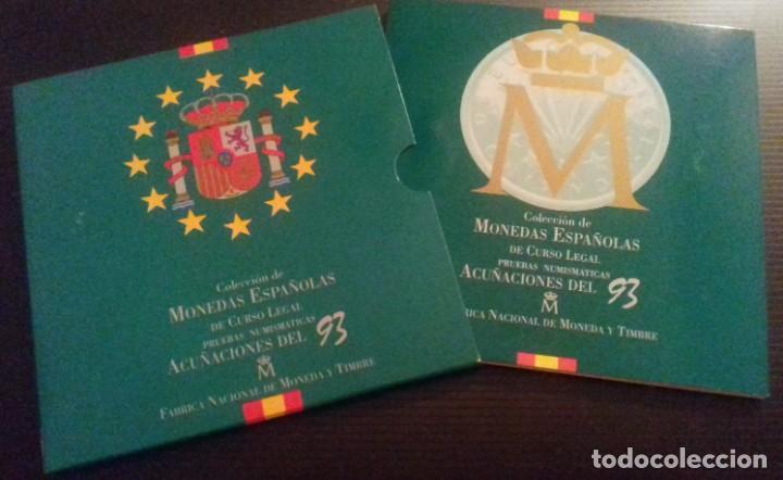 COLECCIÓN DE MONEDAS ESPAÑOLAS DE CURSO LEGAL. PRUEBAS NUMISMÁTICAS ACUÑACIONES DEL 93 FNMT (Numismática - España Modernas y Contemporáneas - FNMT)