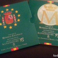 Monedas FNMT: COLECCIÓN DE MONEDAS ESPAÑOLAS DE CURSO LEGAL. PRUEBAS NUMISMÁTICAS ACUÑACIONES DEL 93 FNMT. Lote 165266242