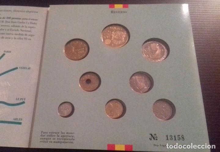 Monedas FNMT: Colección de Monedas Españolas de Curso legal. Pruebas Numismáticas Acuñaciones del 93 FNMT - Foto 3 - 165266242