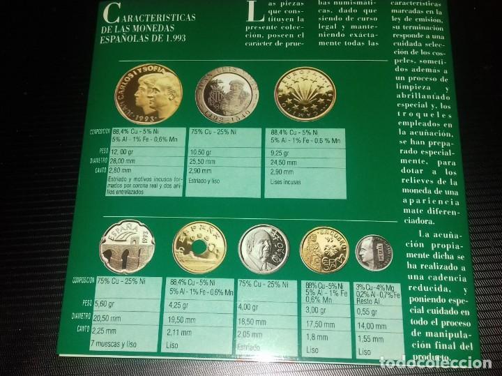 Monedas FNMT: Colección de Monedas Españolas de Curso legal. Pruebas Numismáticas Acuñaciones del 93 FNMT - Foto 5 - 165266242