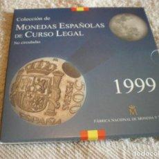 Monedas FNMT: COLECCION DE MONEDAS ESPAÑOLAS DE CURSO LEGAL AÑO 1999 FNMT. Lote 204335595