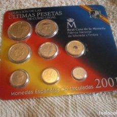 Monedas FNMT: COLECCION DE MONEDAS ESPAÑOLAS DE CURSO LEGAL AÑO 2001 FNMT. . Lote 168999412