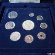 Monedas FNMT: ANTIGUO ESTUCHE ÚLTIMAS PESETAS EN PLATA. Lote 169375460