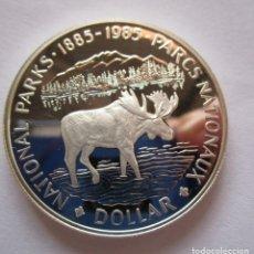 Monedas FNMT: CANADA . UN DOLAR DE PLATA ANTIGUO. AÑO 1989 . SIN CIRCULAR. Lote 220628777