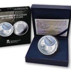 Monedas FNMT: 50 ANIVERSARIO LLEGADA A LA LUNA. FNMT-RCM. 10 EURO. 2019. PLATA. PROOF. Lote 171986148