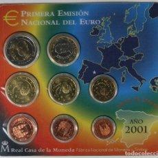 Monedas FNMT: BLISTER ESPAÑA EUROS 2001 PRIMERA EMISION NACIONAL DEL EURO. Lote 174221299