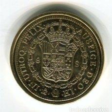 Monedas FNMT: FERNANDO VII 8 ESCUDOS CECA MEXICO AÑO 1810 - REPRODUCCION DE LA FNMT BAÑADA EN ORO - 33 MM.. Lote 174628989