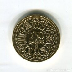 Monedas FNMT: FRANCISCO FRANCO 2,50 PESETAS CECA MADRID AÑO 1944 -REPRODUCCION DE LA FNMT BAÑADA EN ORO - 28 MM.. Lote 174976308