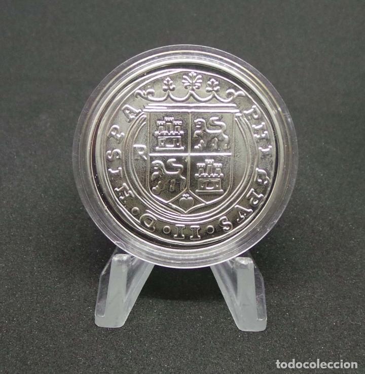 FELIPE II.- 8 REALES. PHILIPPVS II D G HISPA.NIARVM ET INDIARVM REX. PLVS VLT. MEDALLA PLATA (Numismática - España Modernas y Contemporáneas - FNMT)