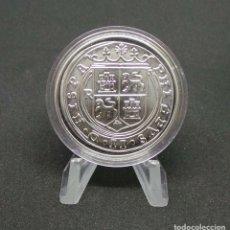 Monedas FNMT: FELIPE II.- 8 REALES. PHILIPPVS II D G HISPA.NIARVM ET INDIARVM REX. PLVS VLT. MEDALLA PLATA. Lote 176084664
