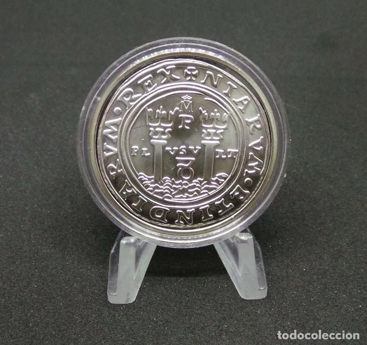Monedas FNMT: FELIPE II.- 8 REALES. PHILIPPVS II D G HISPA.NIARVM ET INDIARVM REX. PLVS VLT. MEDALLA PLATA - Foto 2 - 176084664