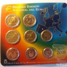 Monedas FNMT: ESPAÑA. FNMT CARTERA OFICIAL EUROS 2001. SIN CIRCULAR SC.. Lote 177315855