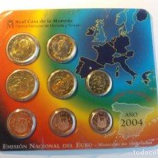 Monedas FNMT: ESPAÑA. FNMT CARTERA OFICIAL EUROS 2004. SIN CIRCULAR SC.. Lote 177315970