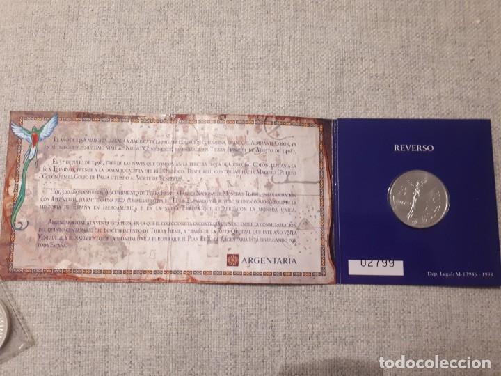 MONEDA PLATA 500 ANIVERSARIO DESCUBRIMIENTO TIERRA FIRME VENEZUELA – AÑO 1998 - 3€ (Numismática - España Modernas y Contemporáneas - FNMT)