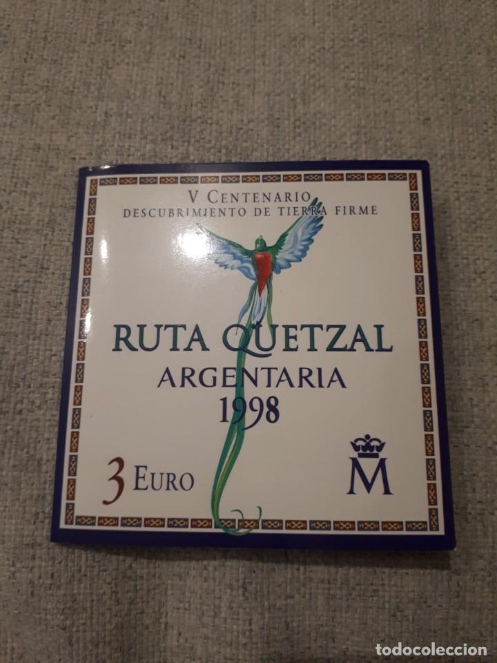 Monedas FNMT: MONEDA PLATA 500 ANIVERSARIO DESCUBRIMIENTO TIERRA FIRME VENEZUELA – AÑO 1998 - 3€ - Foto 4 - 178649551