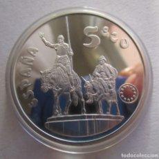 Monedas FNMT: 5 ECU DE PLATA DE F.N.M.T. CERVANTES . PIEZA ANTIGUA DE 1994 . ESTUCHES Y MONEDA PERFECTOS. Lote 179149931