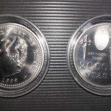 Monedas FNMT: ESPAÑA 2000 PESETAS CONMEMORATIVA 1999 AÑO XACOBEO-CAMINO DE SANTIAGO.PLATA 925-FUNDA. Lote 181441013