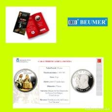 Monedas FNMT: CARTERITA OFICIAL FNMT- 200 ANIVERSARIO MUSEO DEL PRADO. - 30 € AG. A COLOR. Lote 182981562