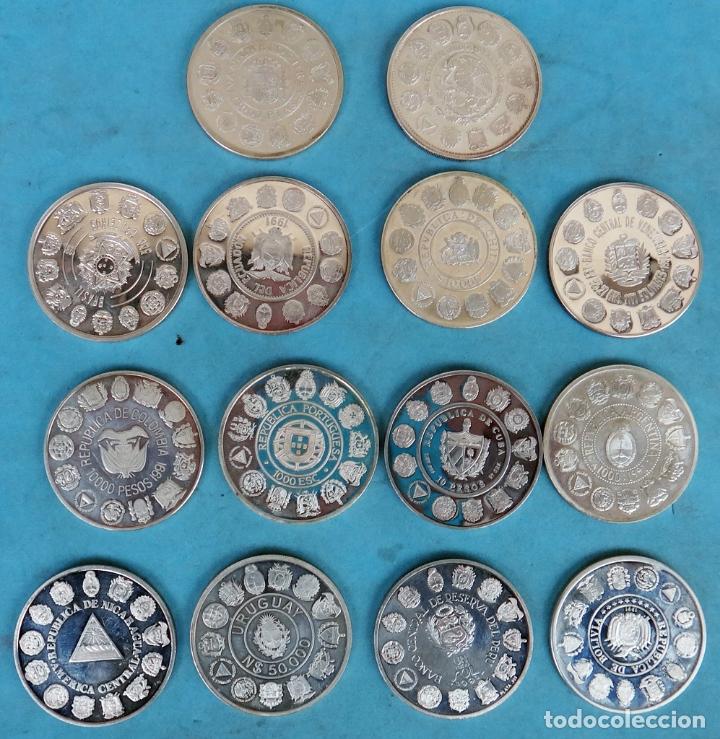 Monedas FNMT: LOTE COLECCION COMPLETA 14 MONEDAS PLATA ENCUENTRO ENTRE 2 DOS MUNDOS PROOF 1492 1992 1ª SERIE - Foto 2 - 183357237