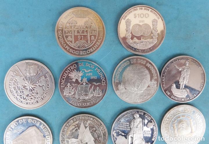 Monedas FNMT: LOTE COLECCION COMPLETA 14 MONEDAS PLATA ENCUENTRO ENTRE 2 DOS MUNDOS PROOF 1492 1992 1ª SERIE - Foto 3 - 183357237