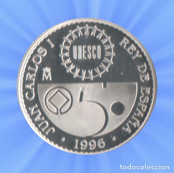 Monedas FNMT: 2000 PESETAS 1996 PATRIMONIO MUNDIAL UNESCO. 8 reales DJENNE Certificado plata Juan Carlos xxx - Foto 2 - 183851657