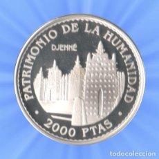 Monedas FNMT: 2000 PESETAS 1996. PATRIMONIO MUNDIAL DE LA UNESCO. 8 REALES DJENNE CERTIFICADO PLATA JUAN CARLOS. Lote 183851657