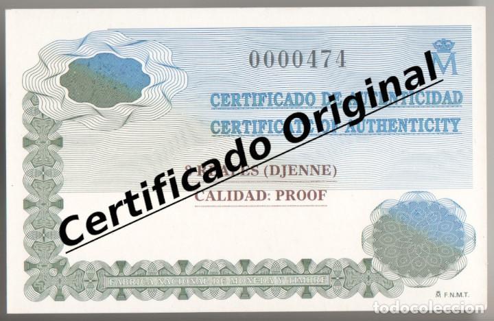 Monedas FNMT: 2000 PESETAS 1996 PATRIMONIO MUNDIAL UNESCO. 8 reales DJENNE Certificado plata Juan Carlos xxx - Foto 4 - 183851657