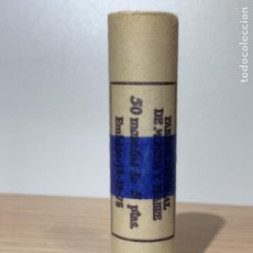 Monedas FNMT: FNMT CARTUCHO PRECINTADO 50 MONEDAS 5 PESETAS. EMISIÓN 19/12/1975. * 76. SC. IMPECABLE.. Lote 184219857