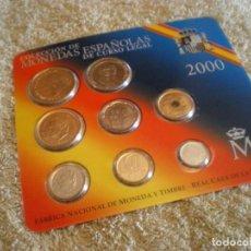Monedas FNMT: COLECCION DE MONEDAS ESPAÑOLAS DE CURSO LEGAL AÑO 2000 FNMT. . Lote 184719951