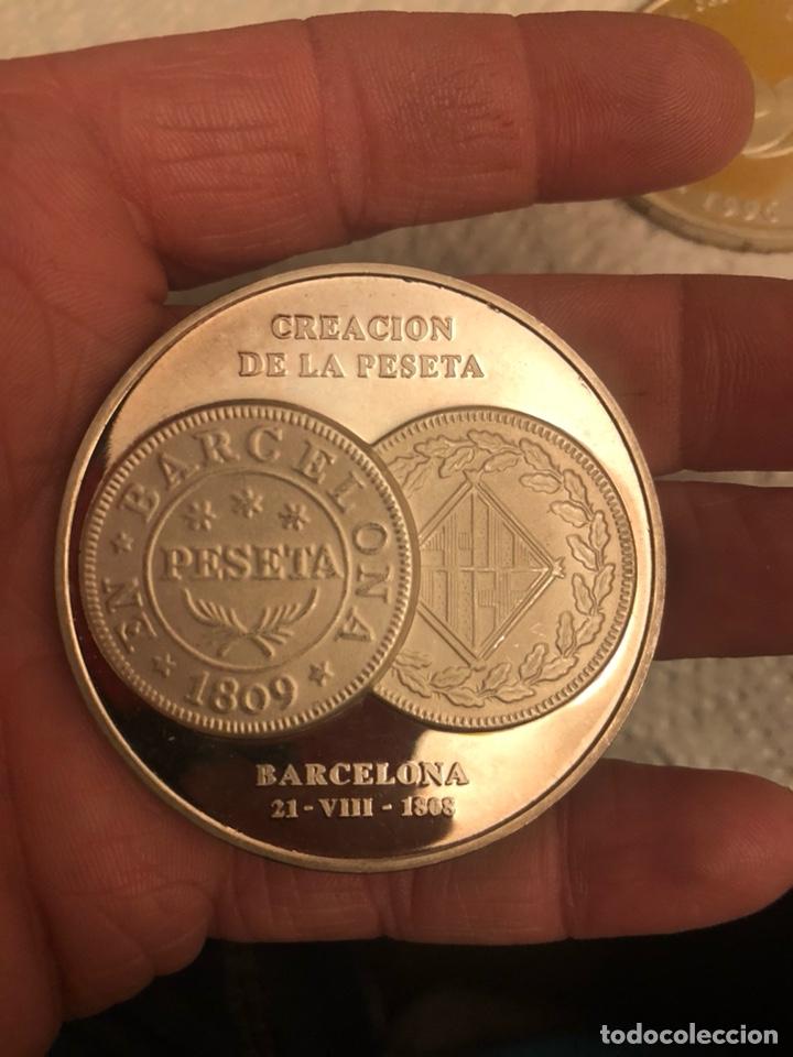 Monedas FNMT: Lote de 5 medallas en plata de ley FNMT, 210 gramos - Foto 4 - 186015447
