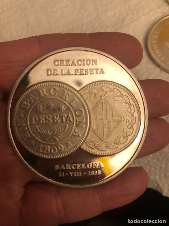 Monedas FNMT: Lote de 5 medallas en plata de ley FNMT, 210 gramos - Foto 6 - 186015447