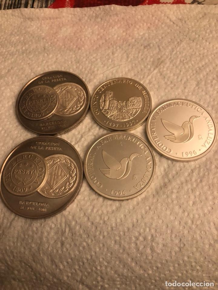LOTE DE 5 MEDALLAS EN PLATA DE LEY FNMT, 210 GRAMOS (Numismática - España Modernas y Contemporáneas - FNMT)