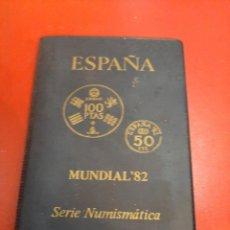 Monedas FNMT: ESPAÑA MUNDIAL 82 SERIE NUMISMÁTICA CARTERA. Lote 191269677