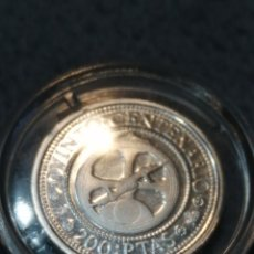 Monedas FNMT: MONEDA DE 200 PESETAS 1989 QUINTO CENTENARIO PLATA 3,20GR,MONEDA AUTENTICA PROOF. Lote 191435227