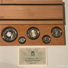 Monedas FNMT: COLECCION 5 MONEDAS DE PLATA CONMEMORATIVAS 1989 SERIE I. Lote 192266620