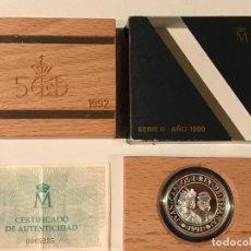 Monedas FNMT: ESTUCHE 5000 PTAS. PLATA SERIE II AÑO 1990 PIZARRO - CONMEMORATIVA. Lote 192268987